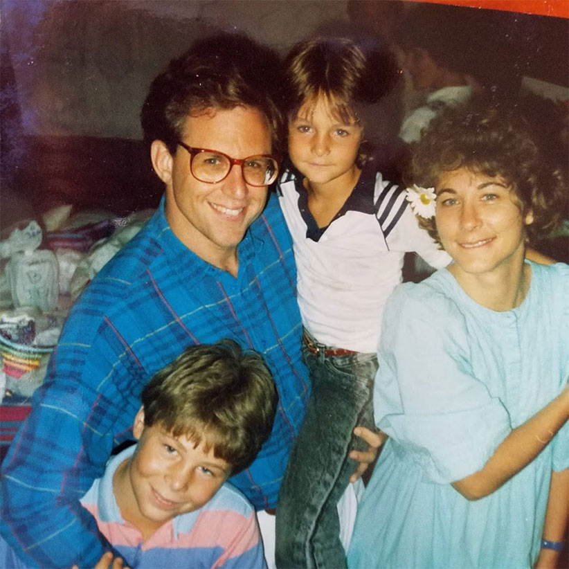 Stephen Smith as a child with father and siblings.