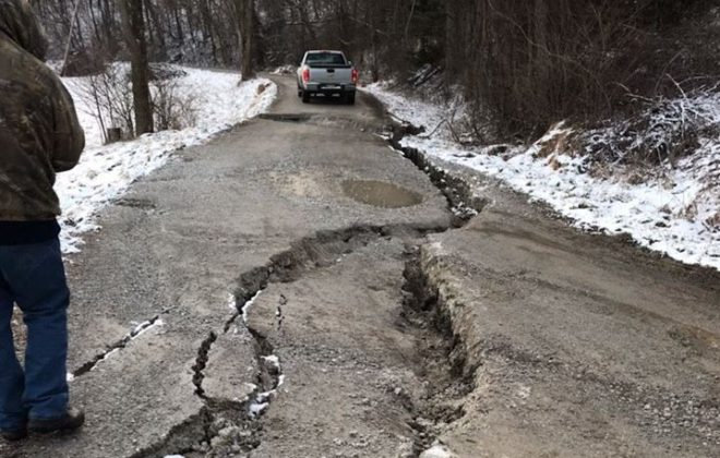 Crumbling WV roads