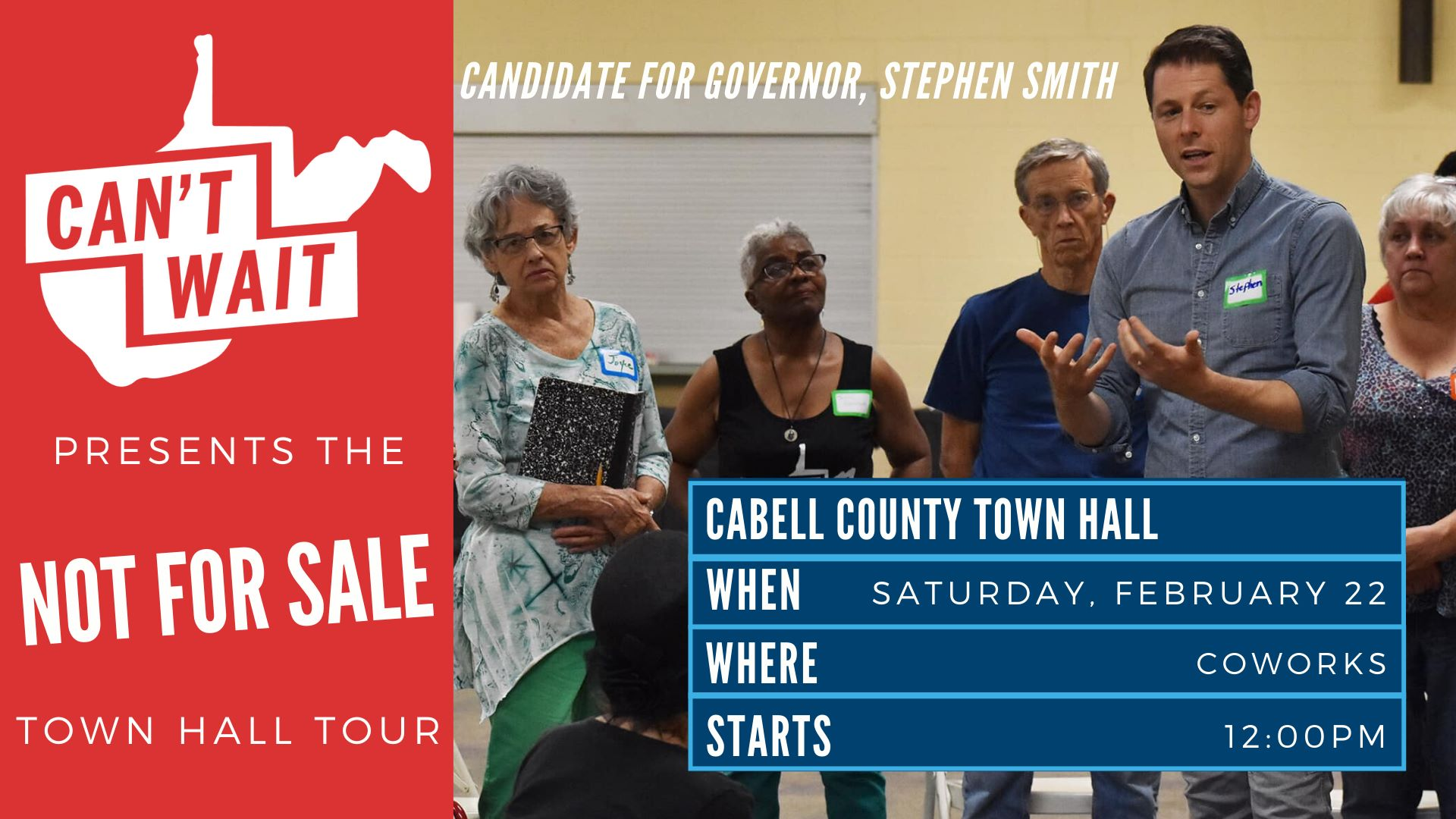 Cabell County Town Hall graphic