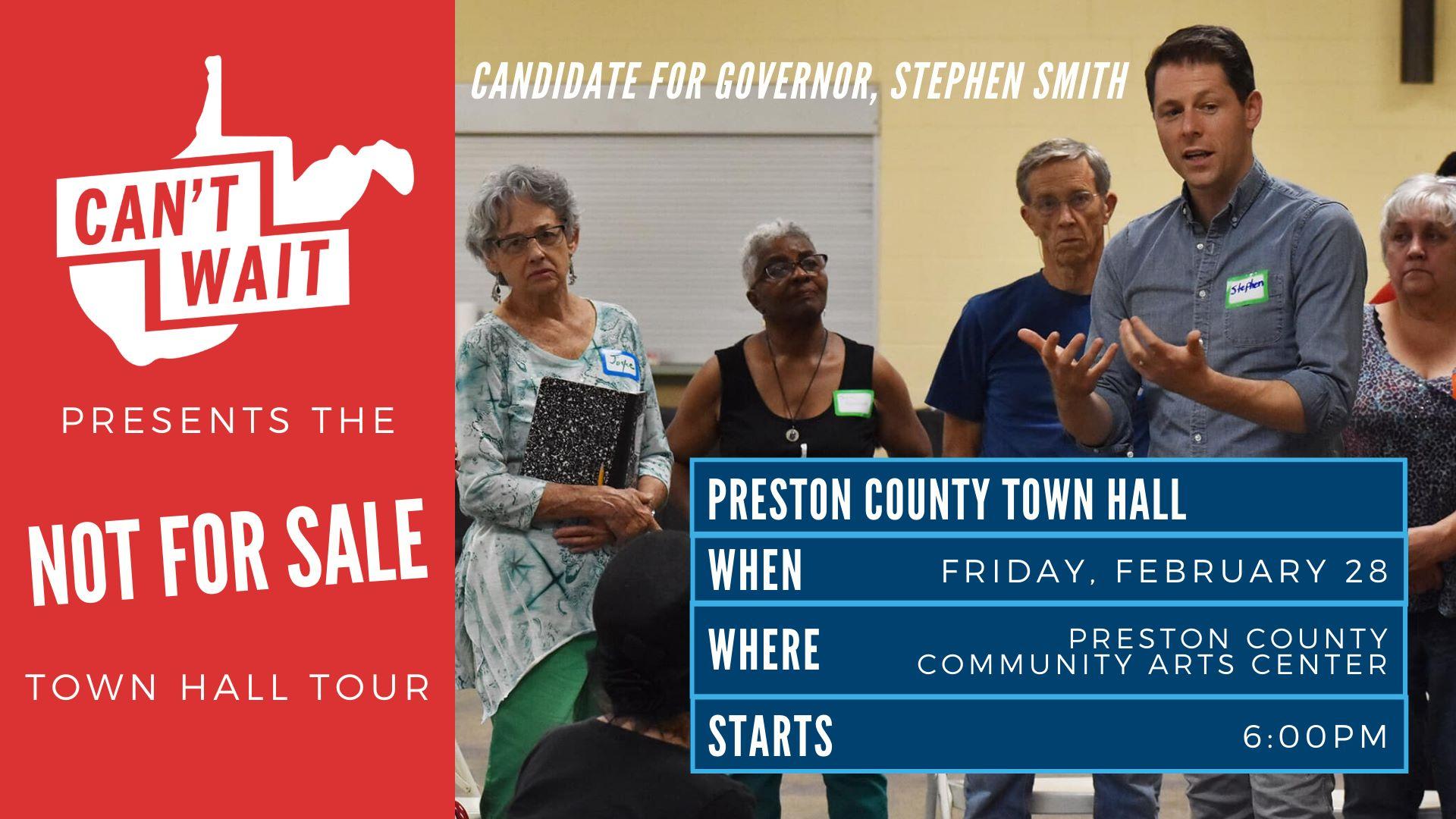 Preston County Town Hall graphic