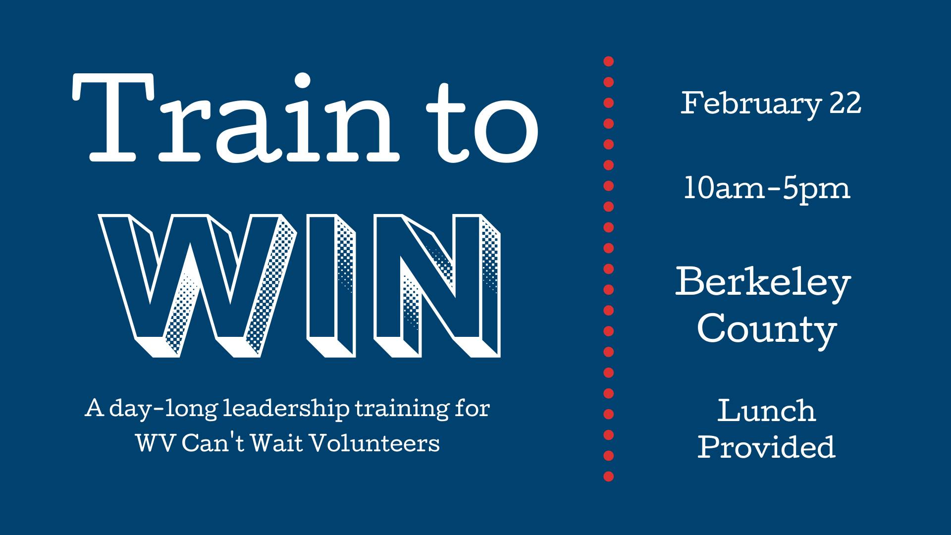 Train to Win graphic