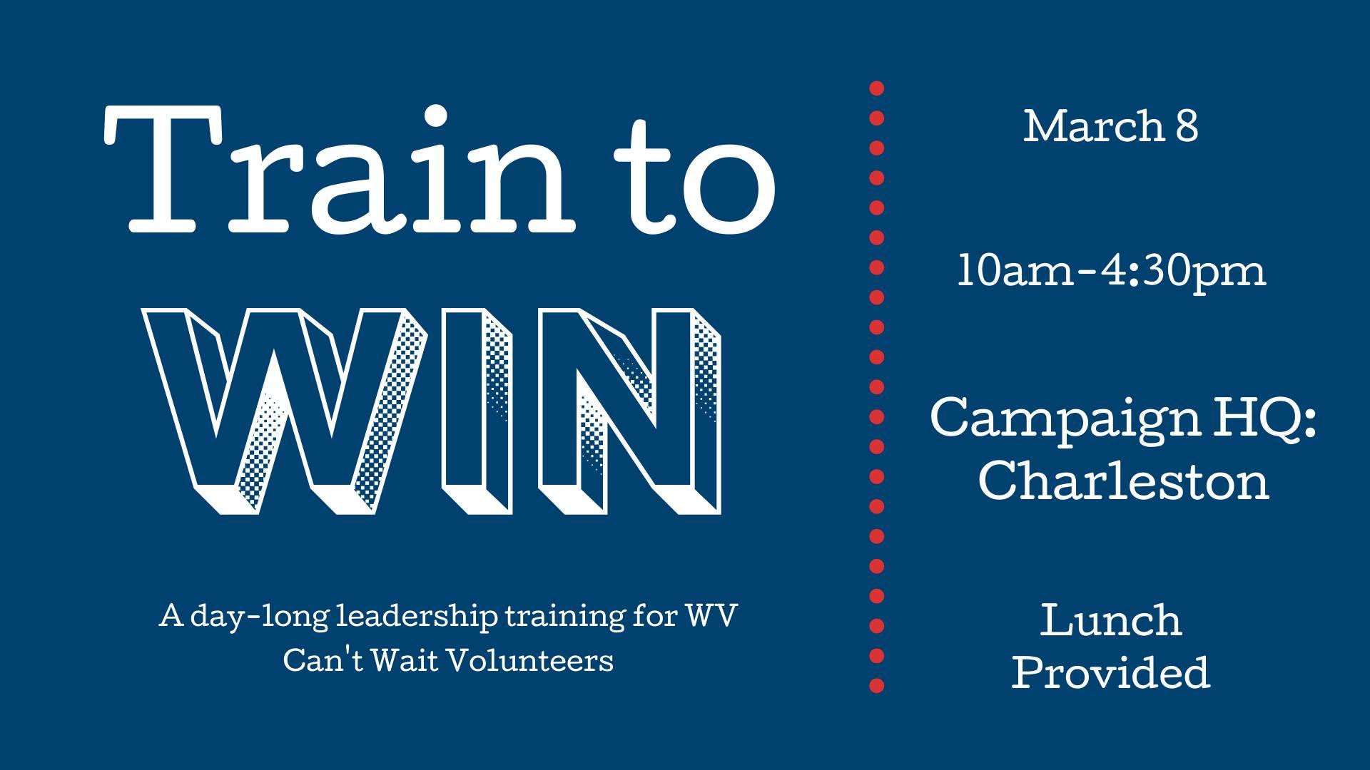 Train to Win Charleston graphic